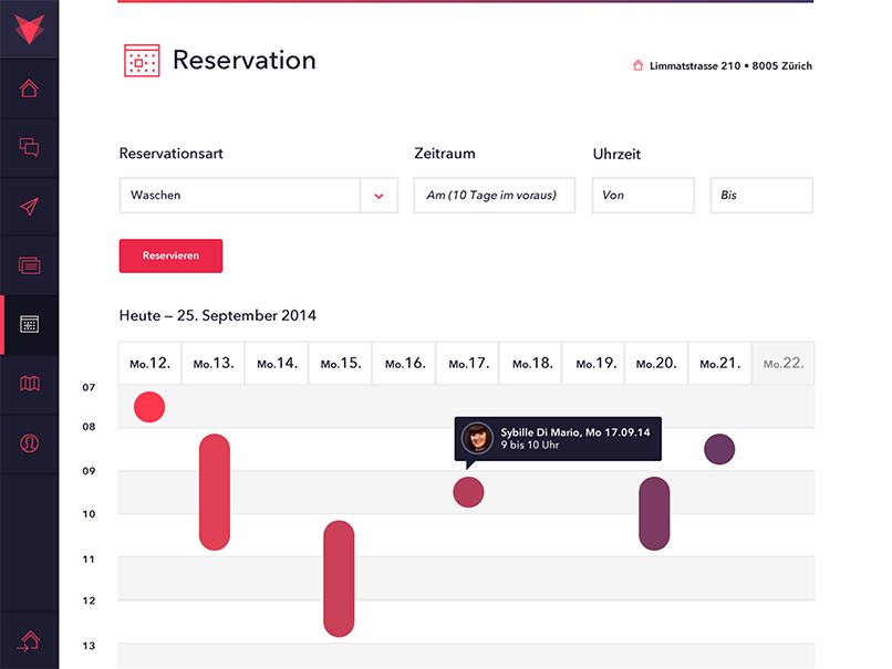 Features reservations